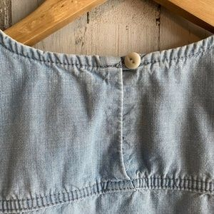 J. Crew Tops - J.Crew Chambray Tie-Waist Top Shearwater Wash